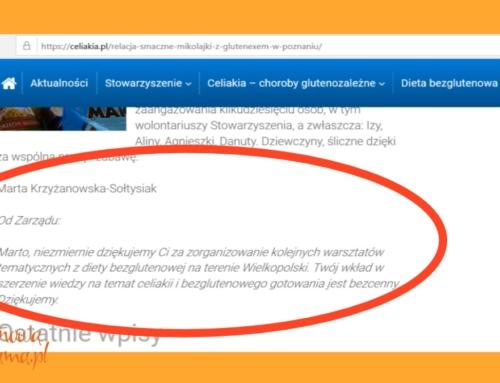 Odpowiedź bezglutenowej blogerki na oświadczenie stowarzyszenia z Warszawy