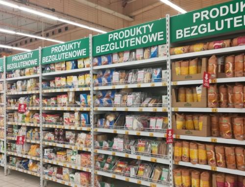 Gluten na bezglutenowych regałach w Auchan