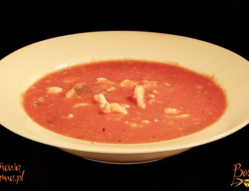 Zupa pomidorowa z lanymi kluseczkami bezglutenowymi