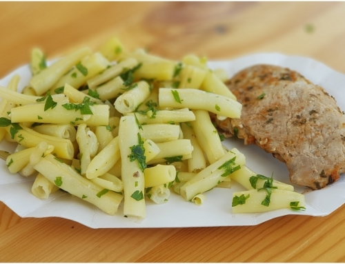 Do pudełka bez glutenu: polędwiczka na parze i fasolka