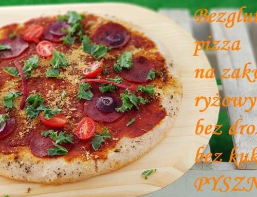 Ryżowa pizza bezglutenowa na zakwasie, bez drożdży i kukurydzy