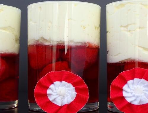 Patriotyczny deser bezglutenowy na 100 lat niepodległości Polski