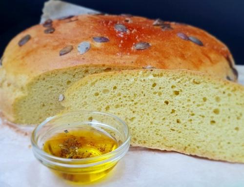 Przepis na włoski chleb bezglutenowy z pesto