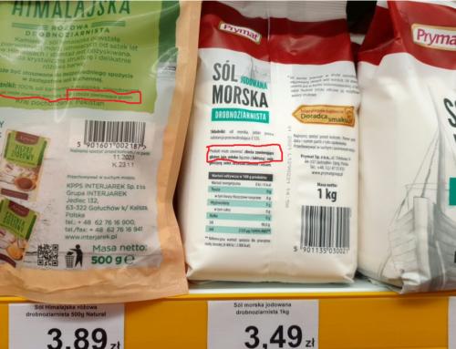 Jak to możliwe, że sól zawiera gluten?