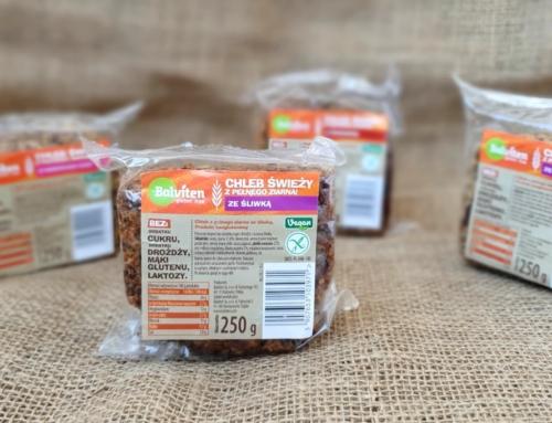 Nowość: świeży chleb bez glutenu bez drożdży, cukru, mąki