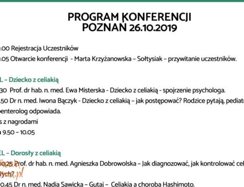 Program konferencji o celiakii i Hashimoto, Poznań 2019