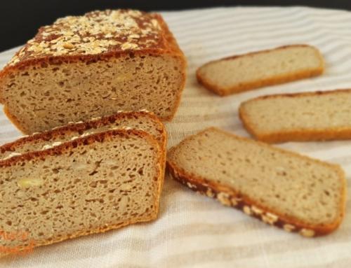 Naturalny chleb owsiany z soczewicą – bezglutenowy