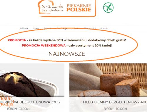 Weekendowa promocja w e-sklepie i piekarni Dr Żurek bez glutenu