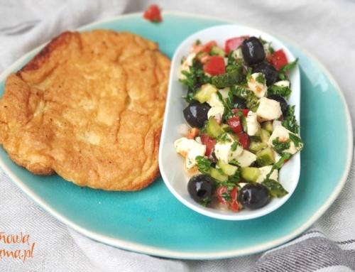 Zdrowy omlet bezglutenowy z mąką z amarantusa